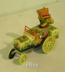 Antique Uncle Wiggily Tin Wind up Toy in the Box by Marx