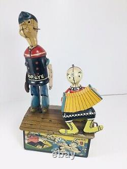 Antique Vintage Marx Popeye And Olive Oyl Dancing Jigger Tin Toy 1936