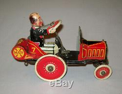 Antique Vtg 1930s Marx Tin Wind-Up Toy Coo Coo Car Great Paint Works Perfectly