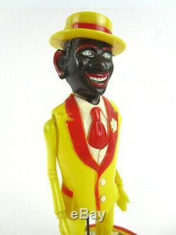 Antique Vtg MARX Toy BE-BOP The Jivin JIGGER Coon Wind-Up Tin Black Americana