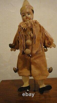 Antique toy Mechanical doll Clown, circus, clown, 1880 Year Perry & Co Automaton