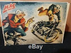 Arnold Vintage German Tin Wind-up MAC 700 Motorcycle Toy withBox NO RESERVE