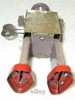 Atomic Robot Man Occupied Japan Rare Vintage 1940's Tin Litho Wind Up Works