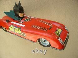 Batman Batmobile Tin Big Friction No Aoshin Toy. Ship. Dhl