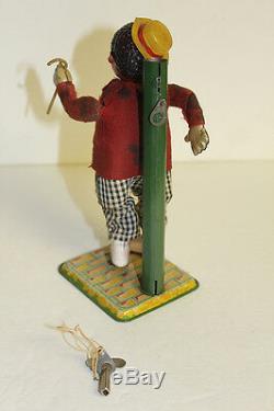 Black Americana Harlem Strutter TapDancer Occupied Japan Windup Toy Celluloid
