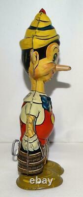 Boxed Set Disney 1939 Walking Pinocchio Marx Tin Wind-up Toy With Moving Eyes