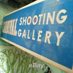 Carnival Shooting Gallery Mint in Box Vintage wind up Ohio Art Co