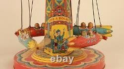 Chein & co. 1952 Ride-A-Rocket tin toy 100% AUTHENTIC
