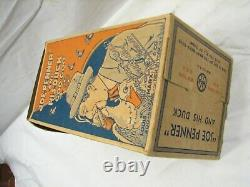 Early 1930s Marx Joe Penner Goo-Goo Duck Tin Litho Wind-Up Toy withRare Box Windup