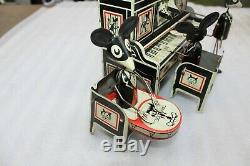 Early Marx Merry Maker Wind Up Tin Toy Lithographed Mouse Band Circa 1929