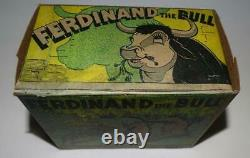 Ex! Disney1938ferdinand The Bulllithographed Tin Wind-up Toy By Marx-boxed Set