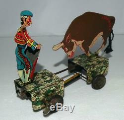 Ex! Disney 1938 Ferdinand The Bull & Matador Tin Lithographed Wind-up Toy-marx