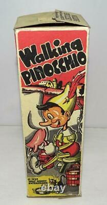 Ex+ Disney 1939 Pinocchio Marx Tin Wind-up Toy+ Built-in Key+ Replica Box Set