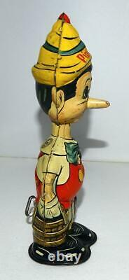 Ex! Disney 1939 Pinocchio Marx Tin Wind-up Toy + Built-in Key+detail Serviced