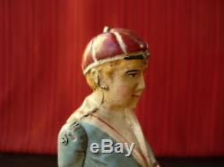 Exceedingly Rare 1902 Issmayer Tin Wind-up Walker Boy on Stilts Bing Stelzen