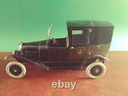Exceedingly Rare 1920's Large Jouet Citroen B2 Tin Wind-up Paris Taxi Limousine