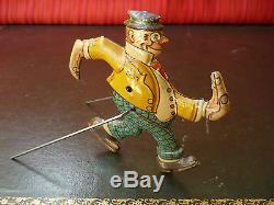 Extremely Rare 1926 Einfalt 140 Technofix Tin Wind-up Fix-Fax Rollover Clown Man