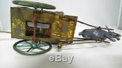 Extremely rare donkey cart from TANTET et MANON FRANCE with ORIGINAL BOX ca 1900