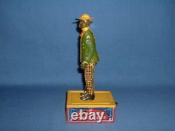 Ferdinand Strauss Working Tin Windup Tombo the Alabama Coon Jigger Toy, Box