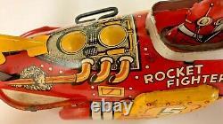 Flash Gordon Rocket Fighter, Marx, 1930s, Bright Colors, Nice Gloss
