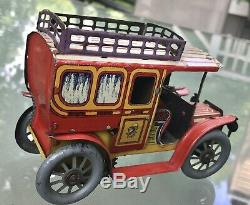 German 1910 Tin Windup Richter & Co. Auto, Excellent