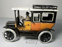 German G&K Tin Litho Windup Taxi Automobile Greppert & Kelch Germany 1910 Bing