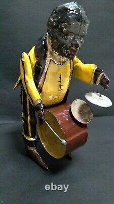 German Tin Wind Up Handpainted Black Man One Band Man Gunthermann Issmayer M&K