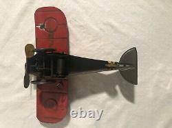 Girard Tinplate Wind Up Air Mail Plane Antique Tin Toy