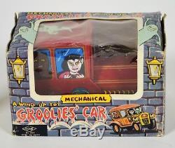 Groolies Car Yonezawa Tin Windup Frankenstein Dracula Vintage 1960's Monster Toy