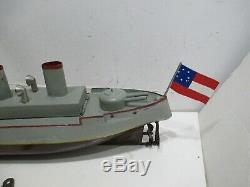 Gun Boat Wind Up Pre War Excellent Condition