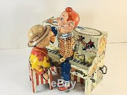 HOWDY DOODY PIANO TIN LITHO WIND UP TOY BAND 1950s UNIQUE ART MFG. CO