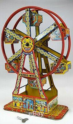 Hercules Tin-Plate Mechanical Ferris Wheel by J. Chein & Co. #172 WORKING