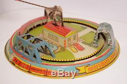 Honeymoon Express Vintage Tin Windup Toy Mar Marx Toys Made In USA