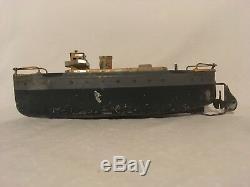 IVES EARLY 1900s CLOCKWORK US MERCHANT MARINE WIND UP TIN SHIP BOAT