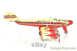 Joustra Air France 6 Engine Croix Du Sud F-ALBA Tin Litho Windup Airplane