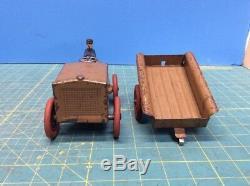 Kingsbury pressed steel wind-up J. C. Penny Little Jim Brown Tractor & Trailer