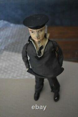 LEHMAN (BRANDENBURG) DANCING SAILOR Wind-up waddler Toy