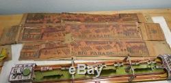 Large Vintage Marx Big Parade Tin Litho Wind Up & Box