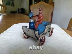 Lehmann Naughty Boy Windup Carriage Car Toy German 1903 Working