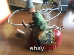 Lehmann Paddy Pig Wind Up Works Overall Nice Shape Some Paint Lost
