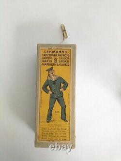 Lehmanns marke DANCING SAILOR Wind-up metal toy in original box germany