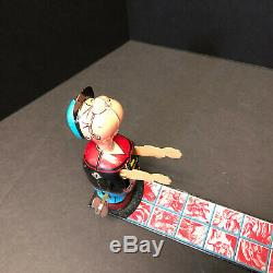 Linemar Popeye and Olive Oil Ball Toss, Wind-Up, Vintage 1950's