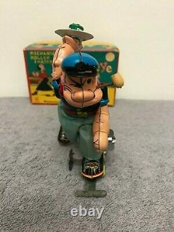 Linemar Toys Popeye Mechanical Roller Skater J-1531 Wind Up Tin Toy withBox Japan