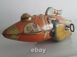 MARX BUCK ROGERS Wind Up TIN ROCKET SPACE SHIP 12 SPACESHIP ANTIQUE TOY WORKS