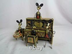 Marx 1931 Tin Litho Merry Makers Mouse Band Wind-Up Toy Nice! Works well