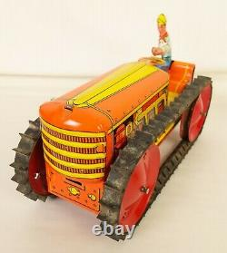 Marx Antique Tin Litho Power Snap Caterpillar Climbing Tractor-near Mint In Ob