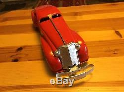 Marx Auto From The 1930s Restored Windup No Key Pressed Steel Vintage