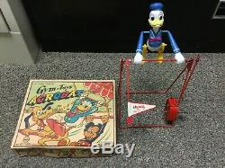 Marx Donald Duck Linemar Gym-toys Swing Wind-up Toy Acrobat Works With Box! Nice