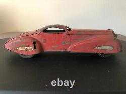 Marx OT 711 Streamliner Coupe, Reversible Clockwork Tin Litho Car Rare