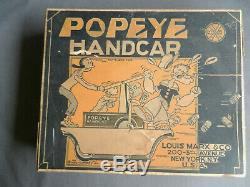 Marx Popeye Handcar With Box 1935 Hard To Find